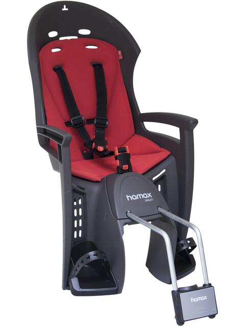 Hamax Smiley kinderfietsstoel grijs/rood